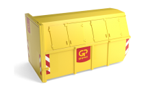 10m³ gesloten container grofvuil