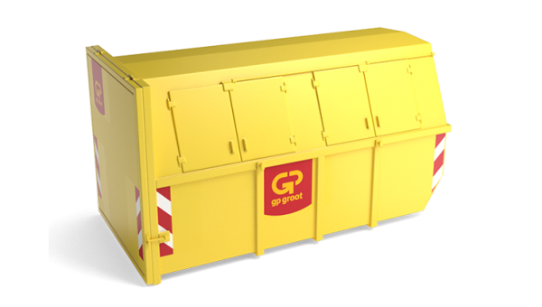 10m³ gesloten container hout
