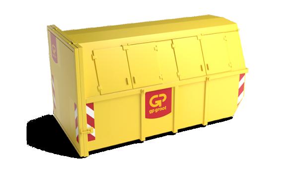 10m³ gesloten container bouw- en sloopafval